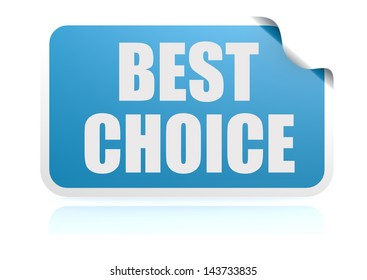 Best choice blue sticker