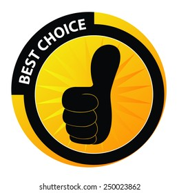 Best choice label.