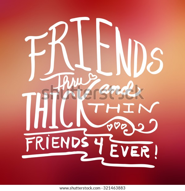 Best Friends Forever Typography Poster White Stock