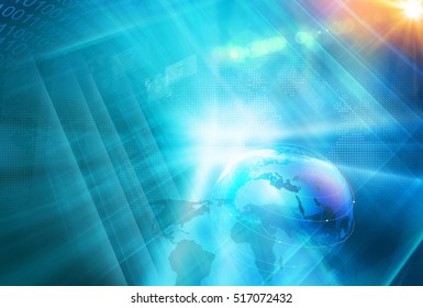 Best Global Connection Background Through the Digital World, Breaking News Studio Background, Modern and Futuristic Internet Technology Background.