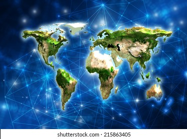 Best Internet Concept of global business from concepts series. Map earth. (Elements of this image furnished by NASA)