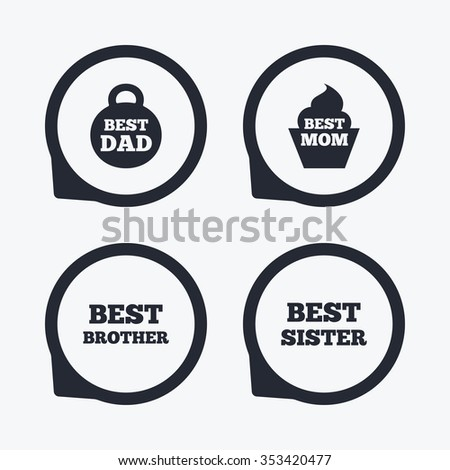 Best Mom Dad Brother Sister Icons Stock Illustration 353420477