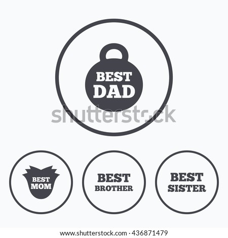 Best Mom Dad Brother Sister Icons Stock Illustration 436871479