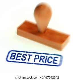Best price on products shows inexpensive shopping at clearance prices. Buy promotions in store or online - 3d illustration