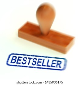 Best seller or bestseller concept icon for top selling products. A collection of smash hit books and publications - 3d illustration