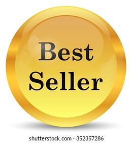 Best seller icon. Internet button on white background.