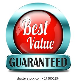 best value for the money web shop red icon or online promotion button, sticker or sign for internet webshop best offer at lowest price