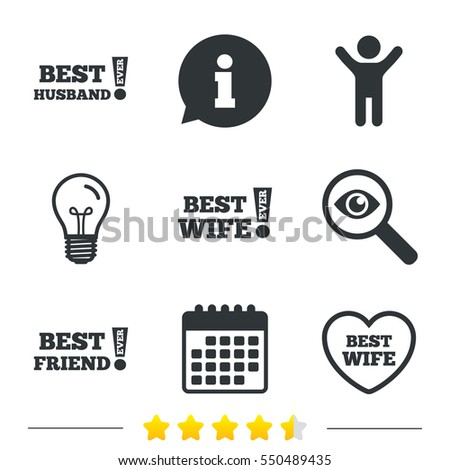 Royalty Free Stock Illustration Of Best Wife Husband Friend Icons