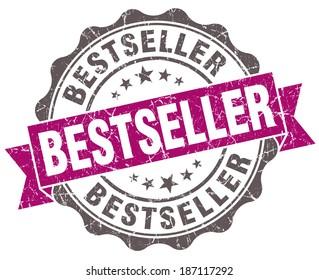 Bestseller violet grunge retro style isolated seal. bestseller stamp. bestseller. bestseller sign.