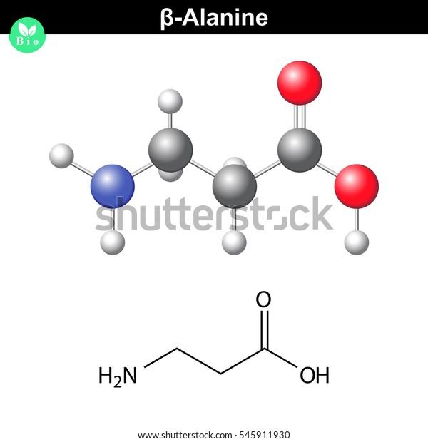 Ilustración De Stock Sobre Estructura Molecular Beta Alanina