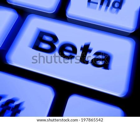 Beta Keyboard Showing Development Demo Version Stock Illustration