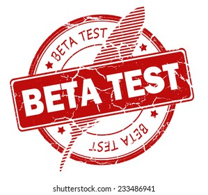 beta test stamp isolated on white background