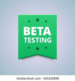Beta testing badge.