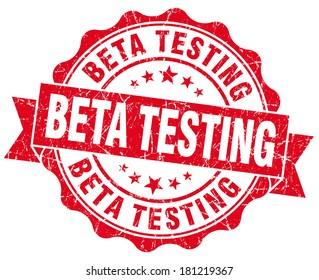 Beta testing red grunge vintage seal