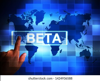 Beta version concept icon used for demos or test software. A trial or testing of experimental apps open to the public - 3d illustration