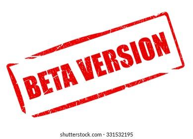 Beta version stamp