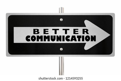 Better Communication Sign Improve Interaction 3d Illustration
