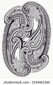 Beyaz arka plan üzerinde şal desenli set Basit şal desenli malzeme, Basit bir şal deseni malzemesidir,