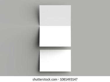 Bilder Stockfoton Och Vektorer Med Folded Card Mockup