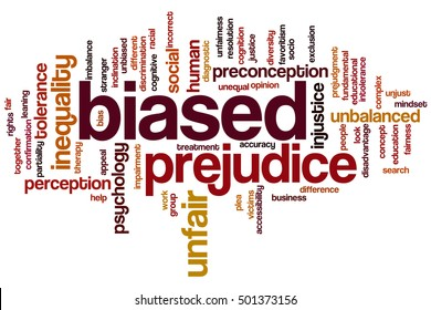 Biased word cloud concept