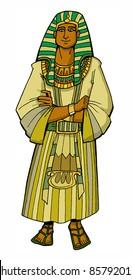 Bible hero Patriarch Joseph the Egyptian ruler colored children's illustration