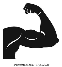Biceps icon. Simple illustration of biceps  icon for web