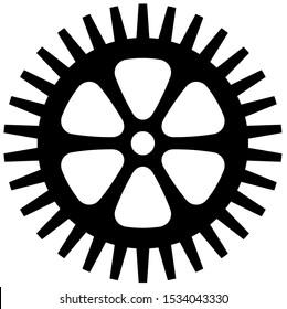 Bicycle chainring, Cogwheel Flat gear in black