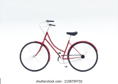 bicycle isolated on white background 3d illustration