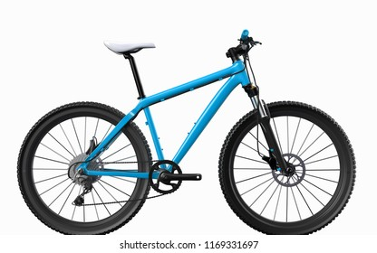 Bicycle on background. Bike.3D rendering.