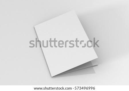 bi fold a 5 brochure leaflet mockup 3 dのイラスト素材 573496996