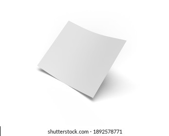 Bifold Flyer Paper 3D Illustration Mockup Scene on White Background