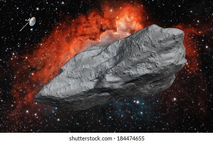 "Big Asteroid ""Elements of this image furnished by NASA"""