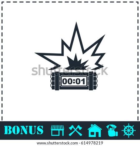 Big Bang Flash Icon Flat Simple Stockillustration 614978219