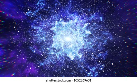 Big Bang in Space, The Birth of the Universe 3d illustration