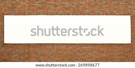 Big Banner Brick Wall Template Stock Illustration 269898677 ...