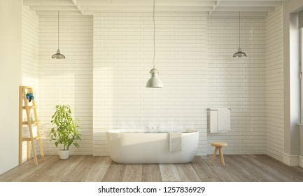 big bathroom 3d rendering