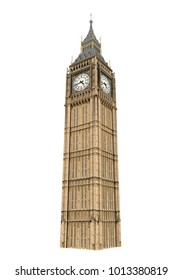 Big Ben Isolated. 3D rendering