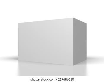 big blank white box on white background