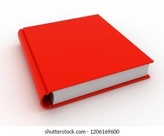 Big book. 3d render illustration