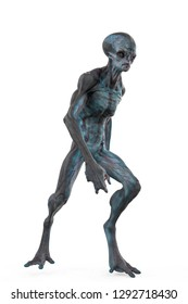 big boss grey alien. This alien will put some fun in yours creations, 3d illustration