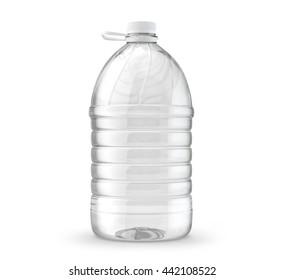 Big bottle 5 liters of water, isolated on a white background. 3d render
