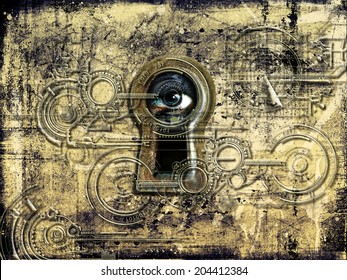 Big Brother watching you through the keyhole