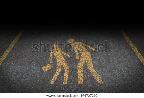 Big bully and bullying concept as yellow painted road sign on asphalt with an abusive bully attacking another person as a symbol of being bullied and the social issues of human abuse and fear.