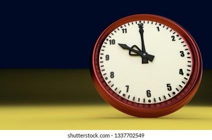 big clock deadline rush time ten o'clock 3D illustration