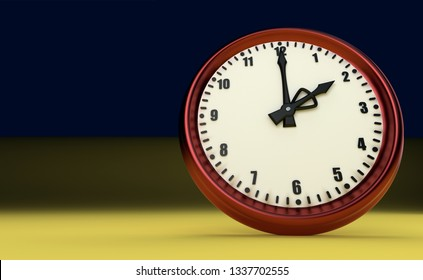 big clock deadline rush time two o'clock 3D illustration