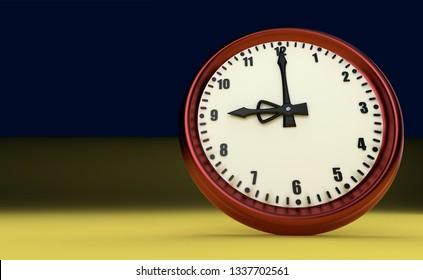big clock deadline rush time nine o'clock 3D illustration