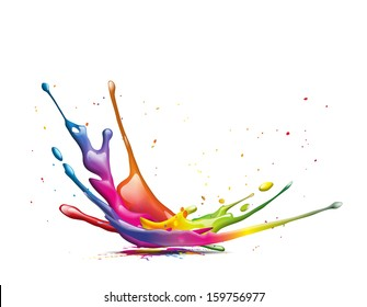 A big colorful ink splash