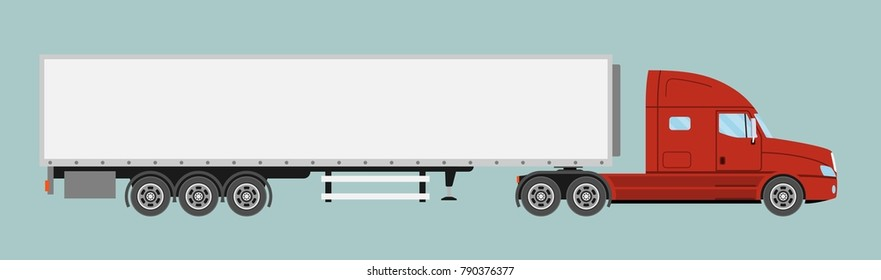 Cartoon Orange Truck On White Background Stock Vector (Royalty Free ...