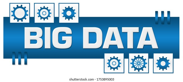 Big data concept image with text and related symbols.