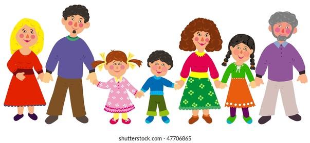 big family - isolated, tiff